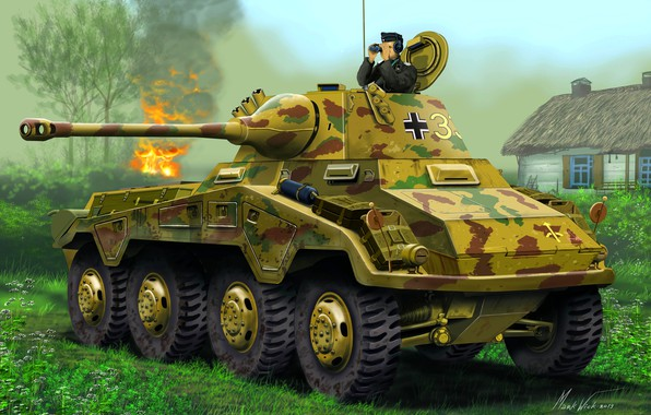 Picture Puma, Intelligence, The Wehrmacht, Armored car, Sd.Car.234/2, Heavy, Cannon 50mm KwK 39