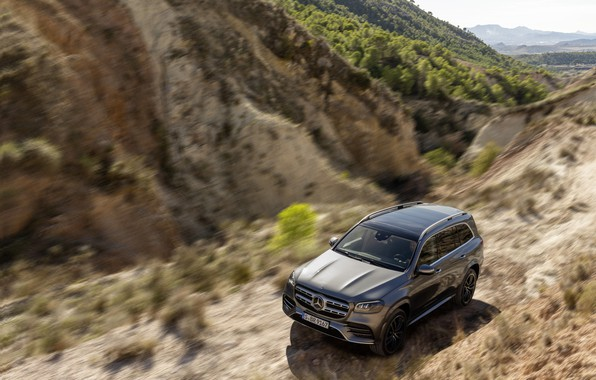 Picture machine, Mercedes-Benz, the roads, crossover, GLS, full-size SUV, 2019