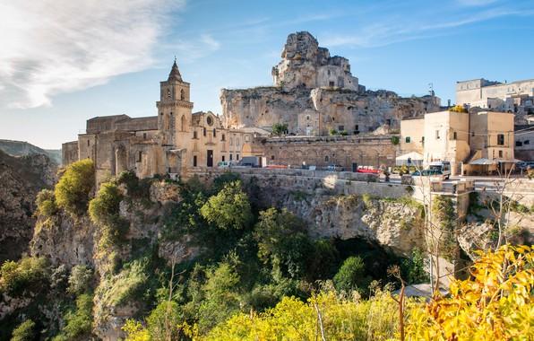 Picture landscape, nature, the city, rocks, Italy, Basilicata, Mater