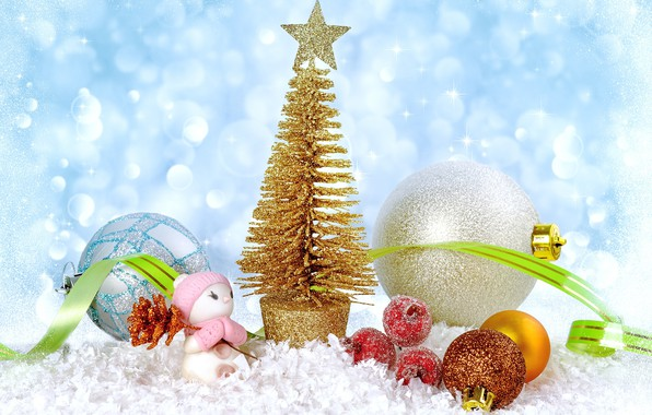 Picture balls, toys, tree, Christmas, New year, Christmas
