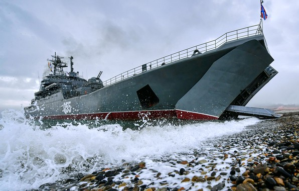 Picture landing ship, the project 775, Admiral Nevelskoy
