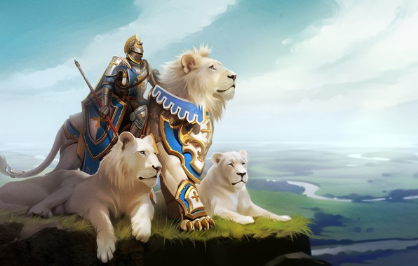 Picture Leo, fantasy, art, knight, Alexander Khitrov, GaudiBuendia