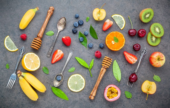 Picture berries, colorful, fruit, fruit, berries