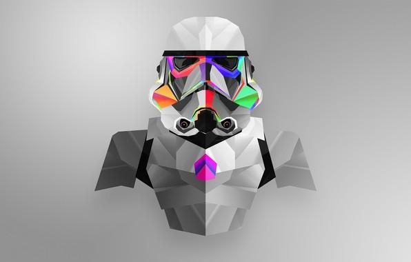 Picture Minimalism, Star Wars, Helmet, Soldiers, Attack, Stormtrooper, Star Wars, Stormtrooper