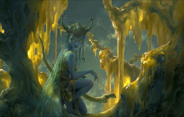 Picture Elf, fantasy, Art, elf, elf girl