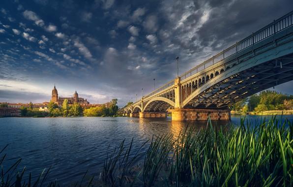 Picture Bridge, Sunset, Architecture, Salamanca, Man Made Structure