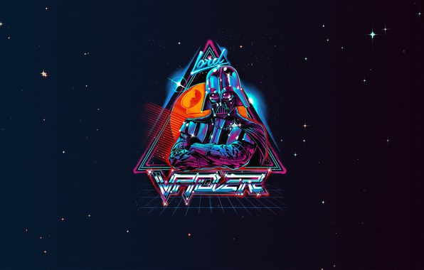 Picture Minimalism, Space, Star Wars, Darth Vader, Darth Vader, Neon, Vader, Lord, Synth, Retrowave, Synthwave, New ...