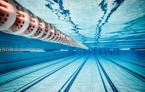 Picture sport, underwater, water, lines, reflection, swimming, miscellanea, tiles, Swimming pool, olympic swimming pool