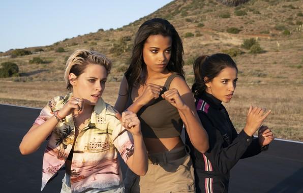 Picture look, pose, Kristen Stewart, Kristen Stewart, Naomi Scott, Naomi Scott, Charlie's Angels, Ella Of Balinska, …