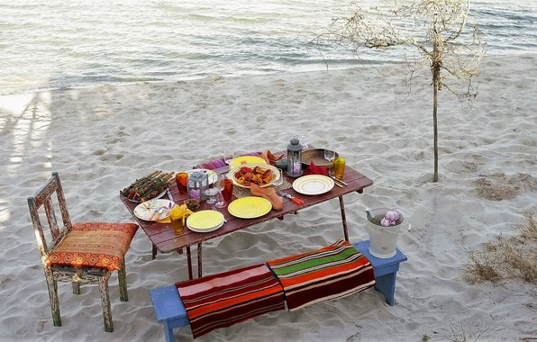 Picture Beach, Sand, Food, Moods, Picnic on the Beach