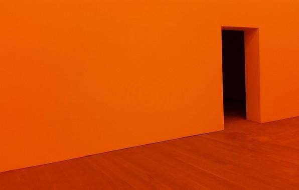 Picture Orange, Wall, Wallpaper, Doorway