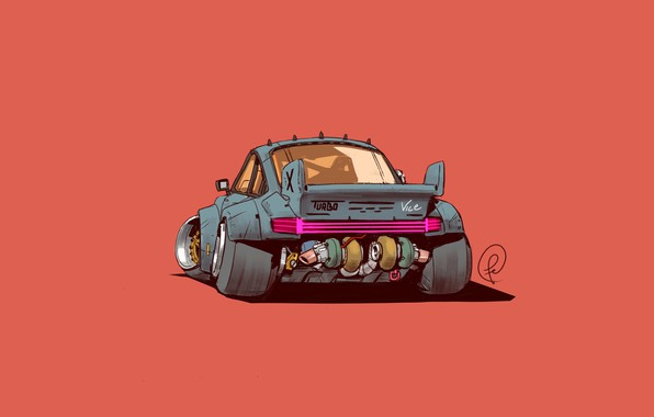 Picture Porsche 911, Turbo, Porsche 911 Turbo, Concept Art, Science Fiction, Cyberpunk, Transport & Vehicles, A …