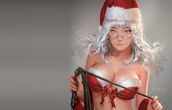 Picture anime, art, maiden, St. Cygnus, Mercy Christmas
