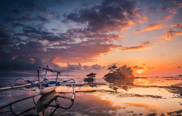 Picture sunrise, Bali, Nusa Lembongan