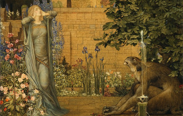 Picture Beauty and the beast, 1904, Joseph Edward Southall