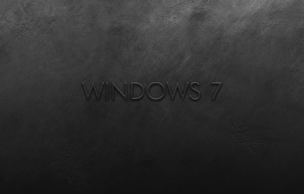 Picture metal, wall, windows 7, scratches, black background