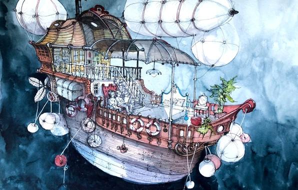 Picture the sky, ship, volatile