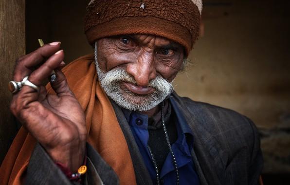 Picture man, portrait, india, gujarat