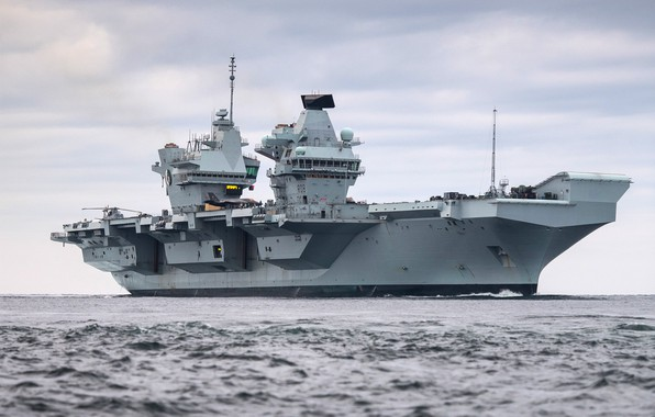 Picture The carrier, F-35B Lightning II, Royal Navy, HMS Queen Elizabeth (R08)