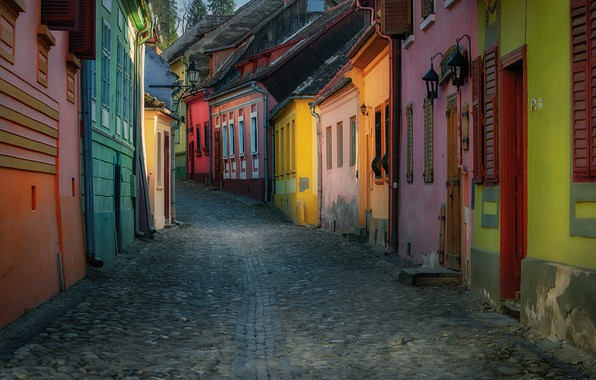 Picture street, building, home, street, Romania