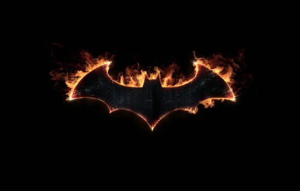 Picture batman, sign, symbol, bat, fire, emblem, logo, symbol, bat, Batman Arkham Knight
