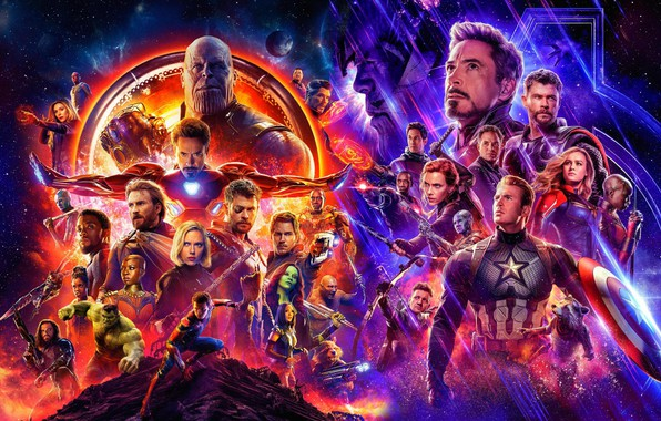 Picture fantasy, poster, characters, The Avengers: infinity War