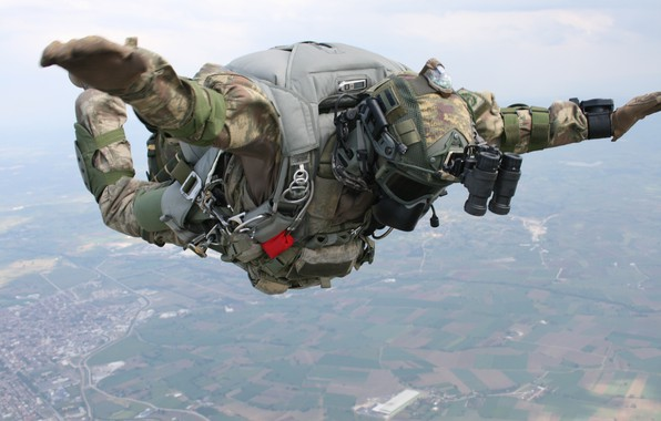 Picture jump, parachute, Turkey, special forces, Turkish special forces