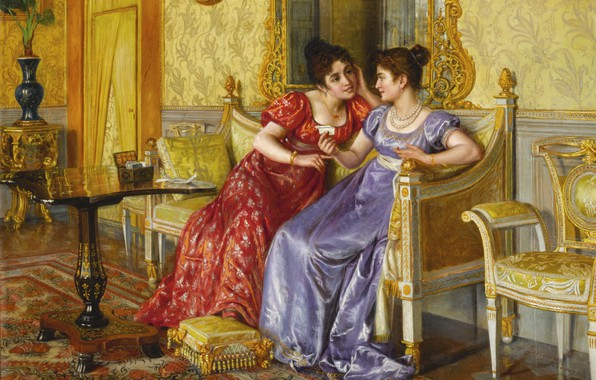 Picture letter, friend, living room, the conversation, Aurelio Zingoni