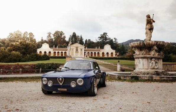 Picture blue, coupe, Alfa Romeo, Giulia, 2020, Totem Automobili, GT electric
