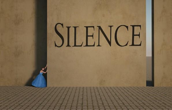 Picture girl, silence, girl, silence, Esther Margraff
