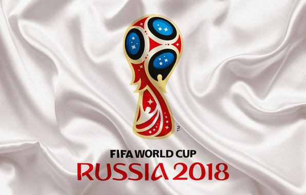 Picture sport, logo, Russia, football, soccer, World Cup, FIFA, white background, FIFA World Cup, official logo, …