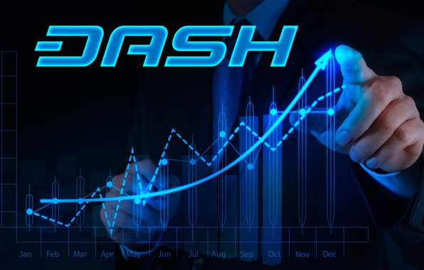 Picture logo, currency, Dash, cryptocurrency, graffik