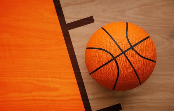 Picture orange, sport, the ball, floor, basketball, bokeh