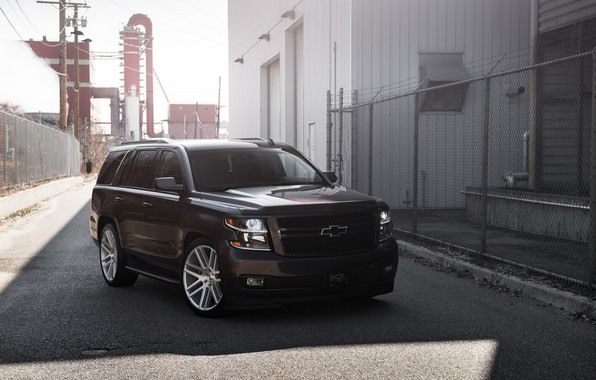 Picture Chevrolet, Black, Lights, American, Tahoe, Sight