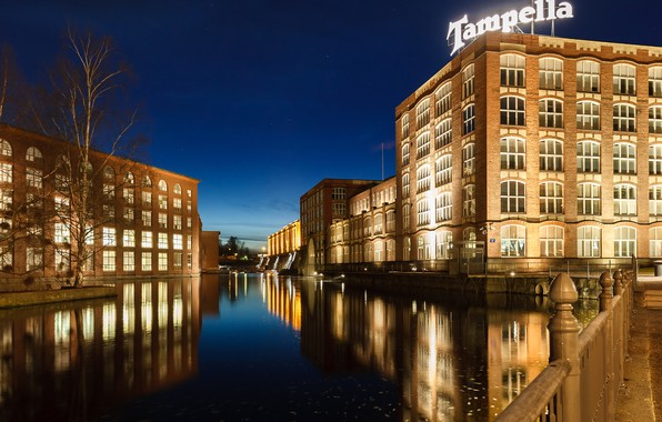 Picture lights, the evening, Finland, Tampere