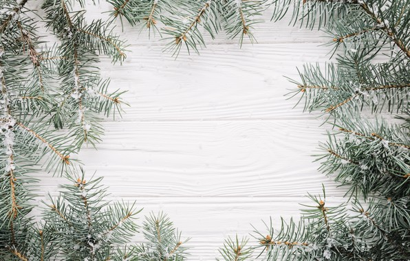 Picture snow, background, tree, New Year, Christmas, Christmas, wood, snow, New Year, decoration, Happy, Merry, fir …