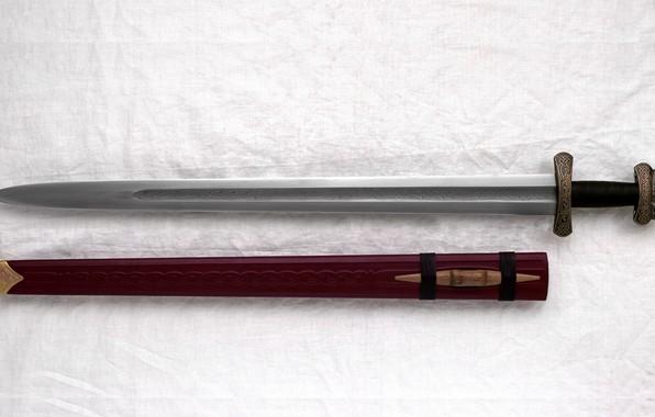 Picture Sword, Sheath, A Carolingian, Gjermundbu