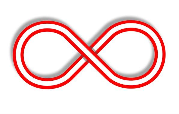 Picture abstraktnaya figure, infinity, eight