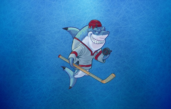 Picture Minimalism, Sport, Logo, Shark, Background, Hockey, Concept Art, Washer, Stick, Characters, Equipment, Sharks Wearing, Christopher …