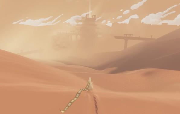 Picture clouds, landscape, desert, dunes, Journey, Journey