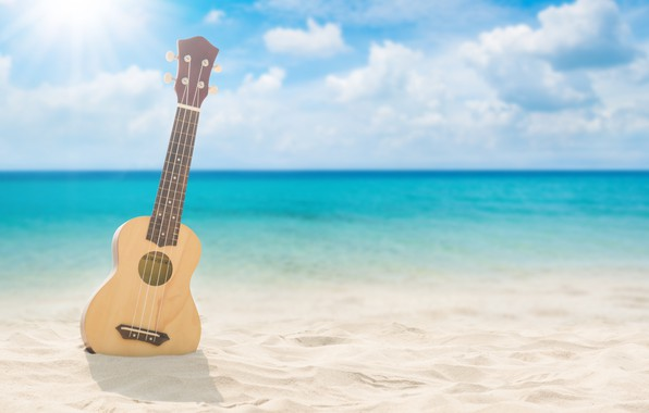 Picture sand, sea, wave, beach, summer, guitar, summer, beach, sea, seascape, sand, wave