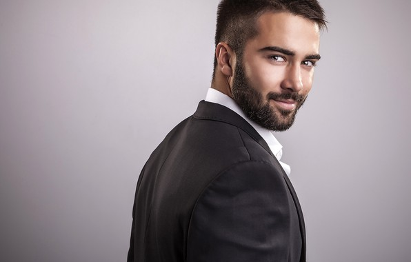Picture look, smile, style, background, portrait, hairstyle, costume, male, shirt, beard, guy, jacket