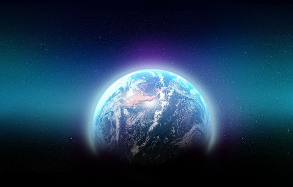 Picture space, earth, the world, planet, art