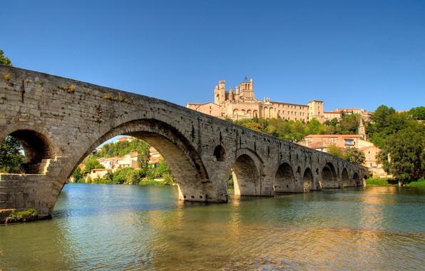 Picture bridge, river, France, Beziers