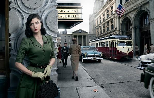 Picture auto, girl, the city, retro, San-Francisco, Stories, Dorothy Hamilton