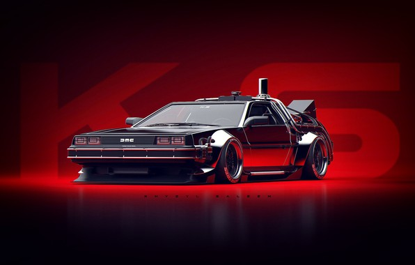 Picture Auto, Machine, DeLorean DMC-12, Art, Art, DeLorean, DMC-12, Rendering, Concept Art, Khyzyl Saleem, by Khyzyl …