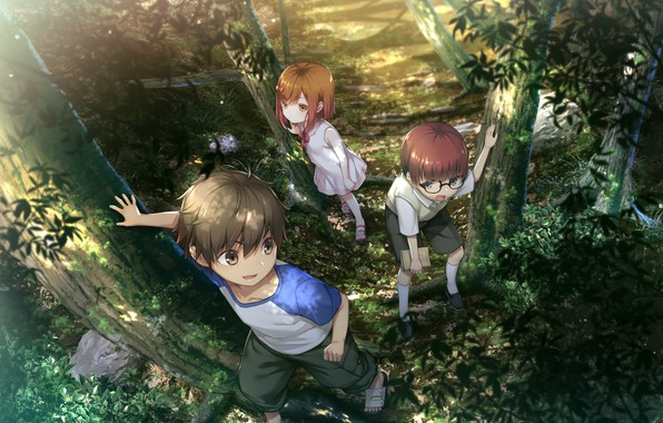 Picture forest, memories, children, games, anime, Deep One