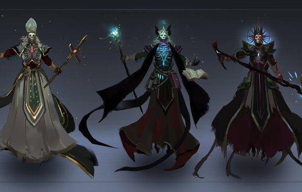 Picture skull, trio, undead
