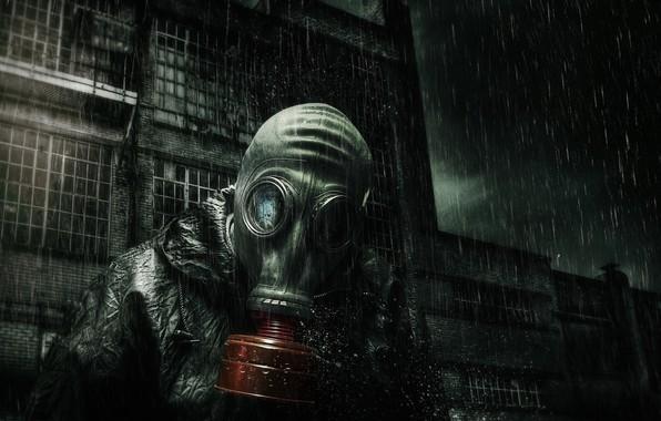 Picture Rain, Gas mask, The building, Stalker