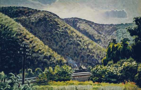 Picture 1939-41, Charles Ephraim Burchfield, Late Afternoon in the Hills